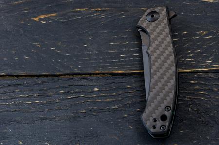 Pocket knife in the folded form.