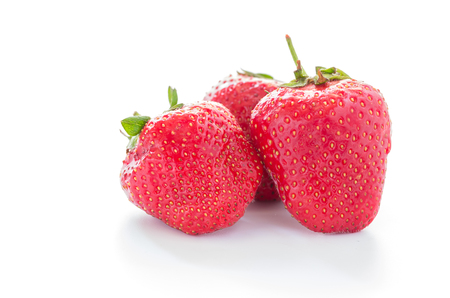Red berries. Fresh red strawberry. Homemade strawberry. Front view Stock Photo