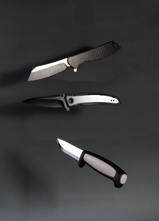 Variety knife. A variety of knives. Different types of knives. Vertical frame. 版權商用圖片