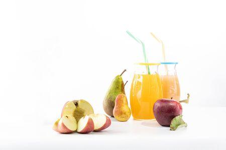 Sliced apple into slices. Sliced apple for juice.