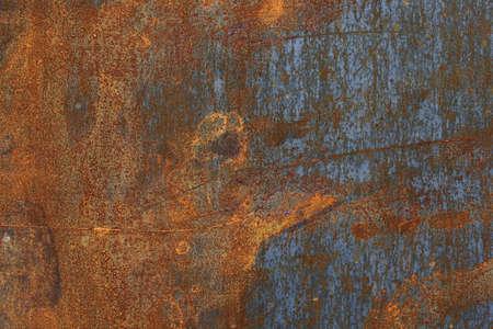 corrosion: Steel leaf. Corrosion pattern