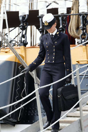 naval: Naval officer Stock Photo