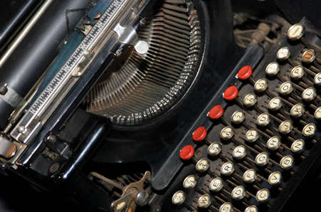 qwerty: Old QWERTY typing machine