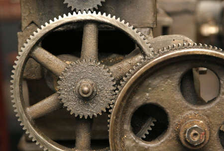 linkage: Transmission gear Stock Photo