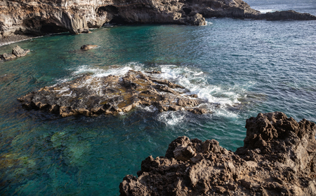 Insidious cove Puerto de Sto. Domingo. Adventures on the island of La Palma Canary Islands.