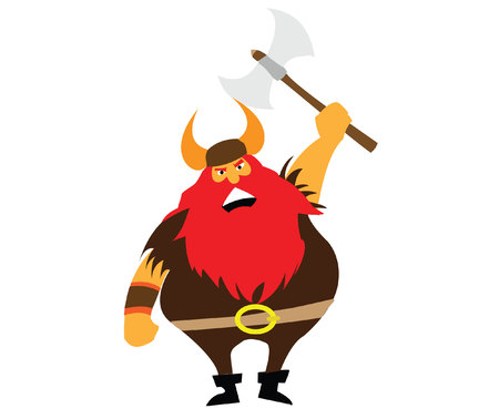 red haired: Severe viking