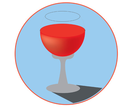 red wine glass: glass of red wine Illustration