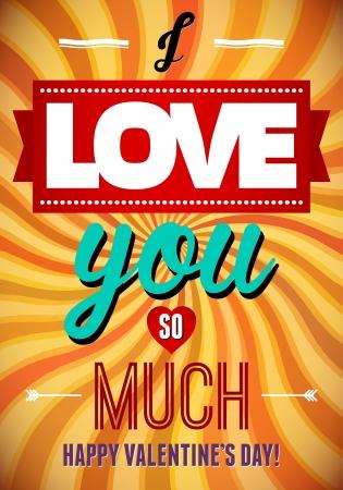Valentine s Day type text calligraphic Stock Vector - 16989488