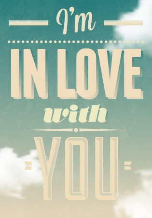 I m in love with you text calligraphic Stock Vector - 16989498