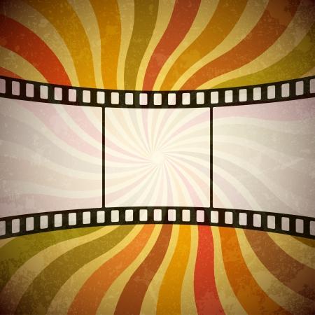 movie poster: Grunge film strip background