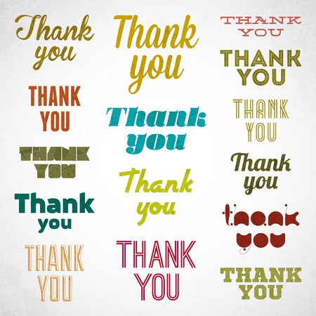 Thank You signature Stock Vector - 17031778