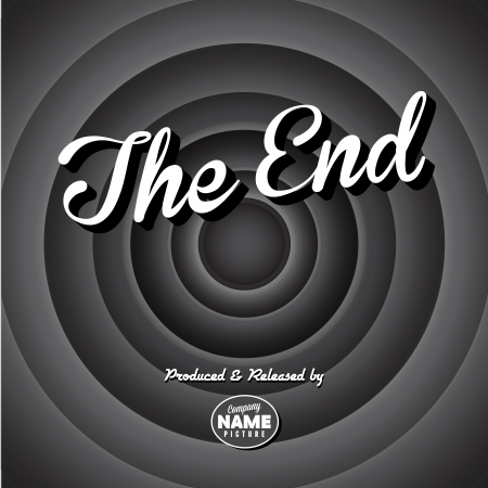 the end: Movie ending screen