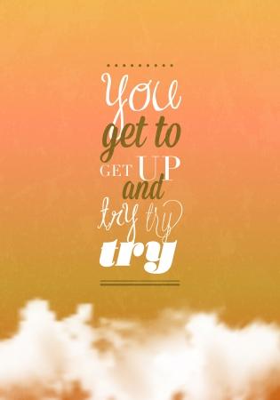 get up: Si arriva a alzarsi tipografia Vettoriali