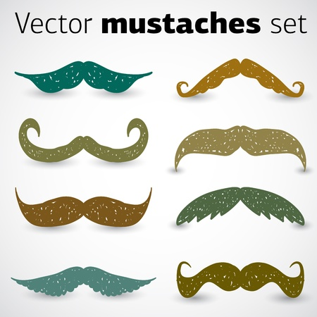 mustaches: A stylish retro mustaches set Illustration