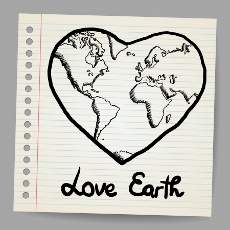 Earth Love doodle Stock Vector - 17031711