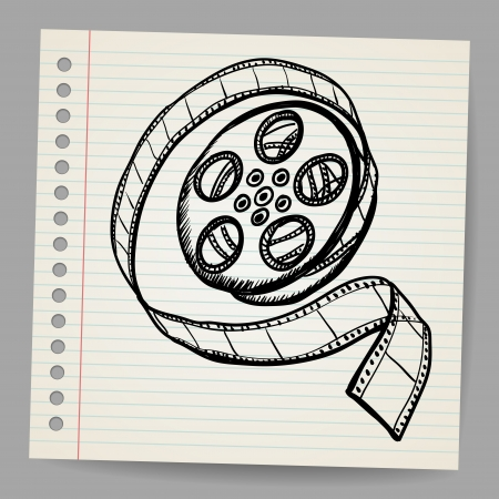 Doodle reel of film Stock Vector - 17031702