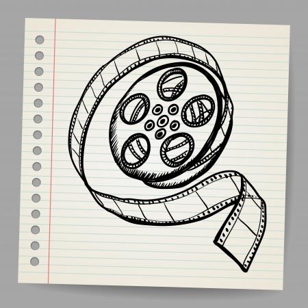Doodle reel of film Stock Vector - 17031702