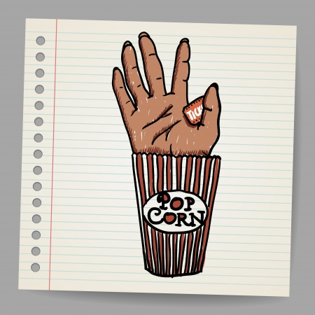 grisly: Illustration Of A Creepy Sawn Off Hand  Horror Movie Conceptual Illustration