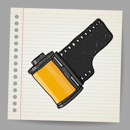 Camera film roll, illustration Ilustrace
