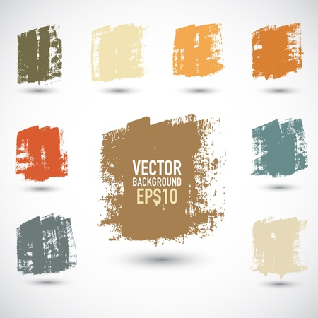 Grunge colorful squares Stock Vector - 18078029
