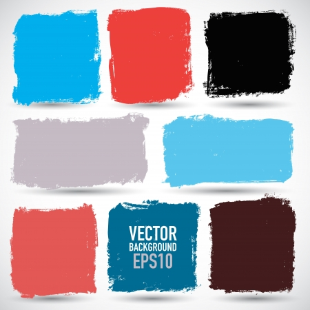 brush stroke: Grunge colorful backgrounds Illustration
