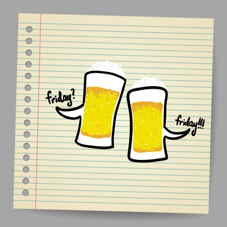 tempting: Doodle bubbles with beer