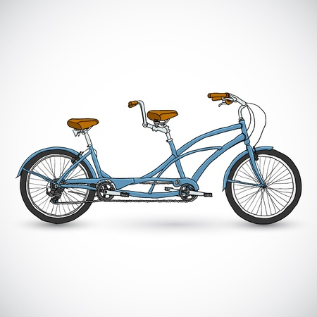 one wheel bike: Bicycle vector illustration in the doodle style Illustration