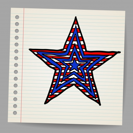 The 4th July Independence day star Stock Vector - 18078026