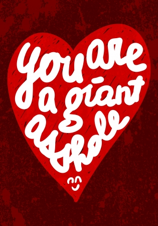 Vintage Saint Valentine s typography vector illustration