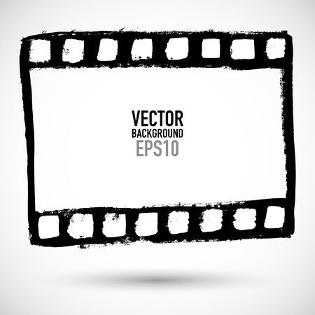 Grunge filmstrip, may be used as a background, design element Illustration