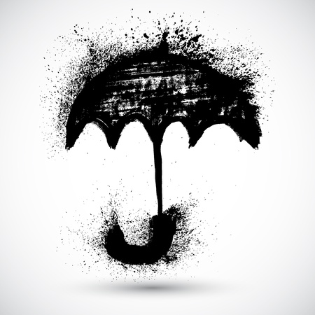 Umbrella  Vector grunge sketch Illustration