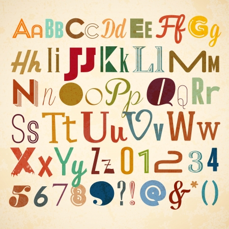 paper spell: Doodle alphabet for you business presentations