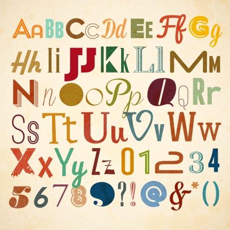 Doodle alphabet for you business presentations