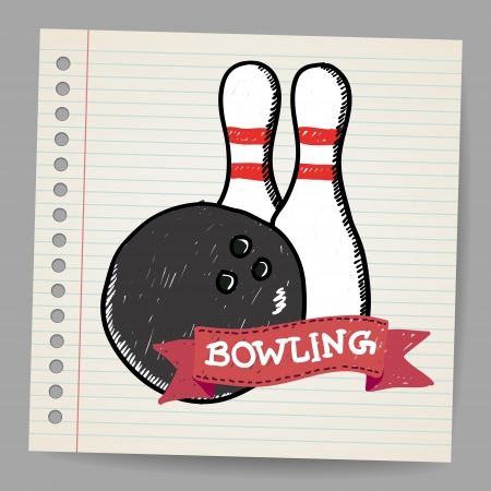Sketch bowling Illustration