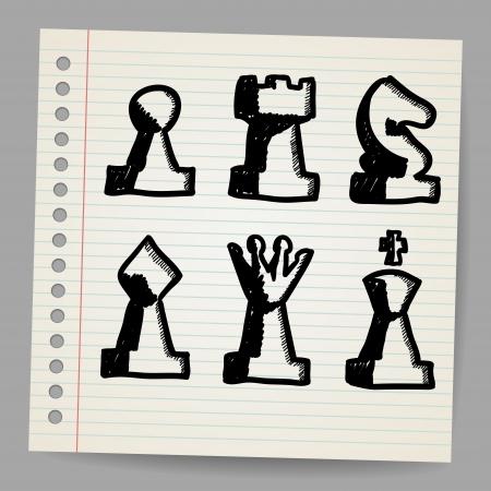 rey caricatura: Piezas de ajedrez