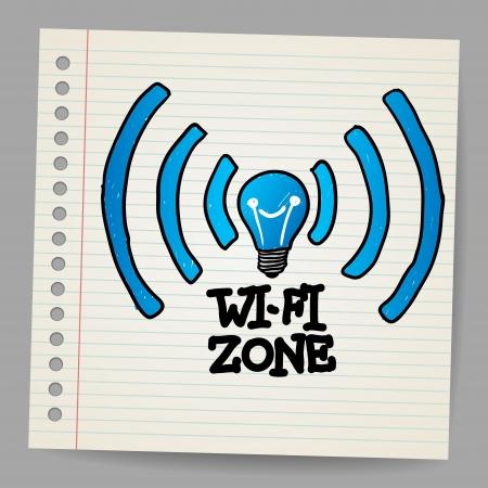 Vector Doodle Wireless Icon