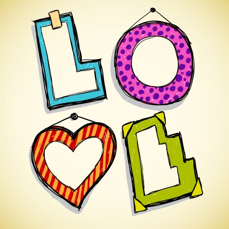 Love frames Vector