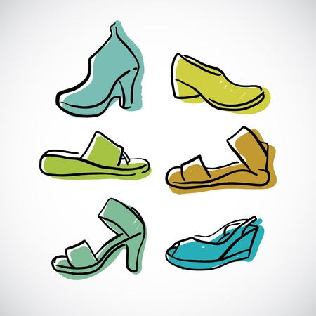 Woman s shoes, vector sketch Stock Vector - 18078054