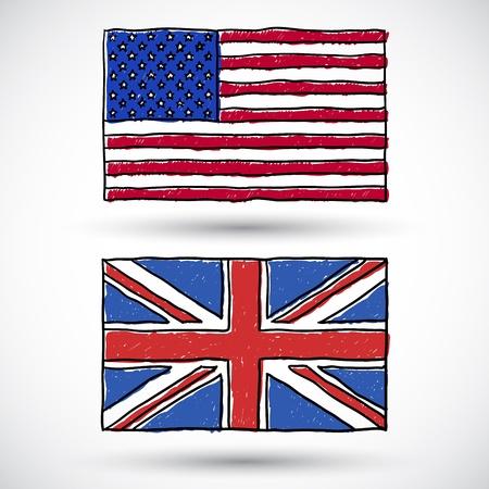 bandera de gran bretaña: Doodles Banderas del mundo