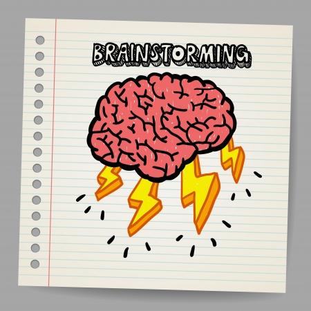 Doodle Brain Storm Stock Vector - 18216836