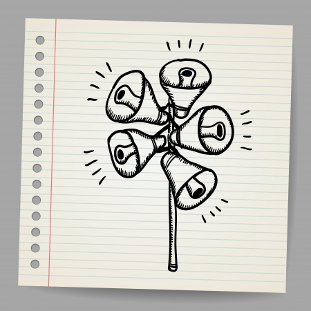 Scribble megaphones Illustration