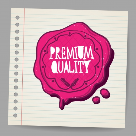 wax seal: Doodle wax seal with premium quality sign