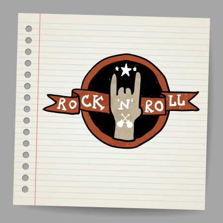 Rock and roll sign vector Stock Vector - 18216879