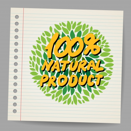 product icon: Natural product icon in doodle style Illustration