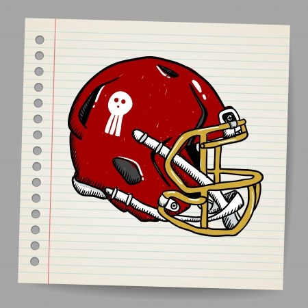 American football helmet Stock Vector - 18563823