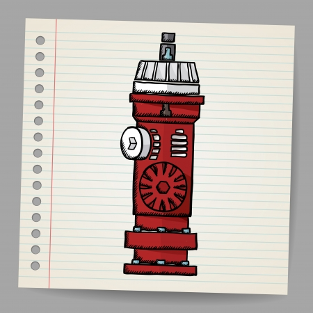 Fire Hydrant  Doodle style Stock Vector - 18563821
