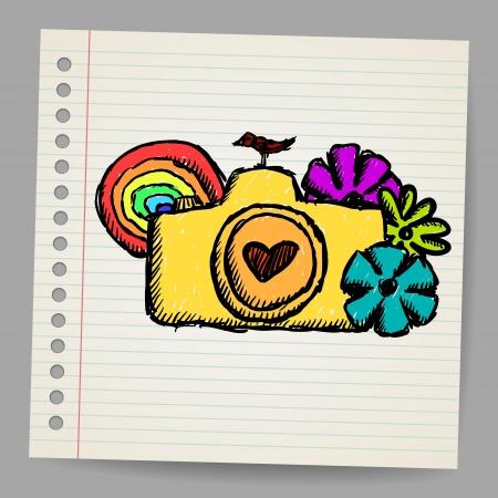 Hand drawn doodle digital camera illustration Stock Vector - 18563807