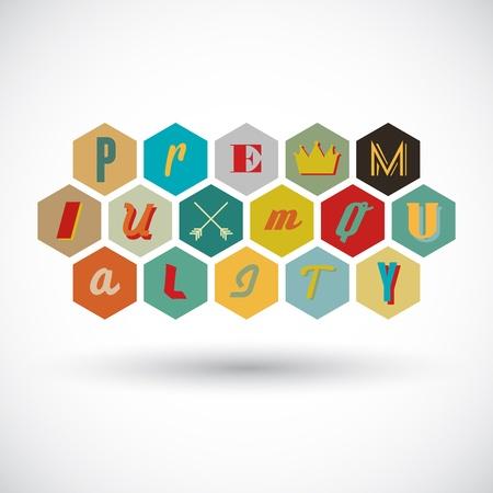 premium quality badge Stock Vector - 18563654