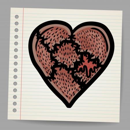 lowbrow: Broken heart cartoon