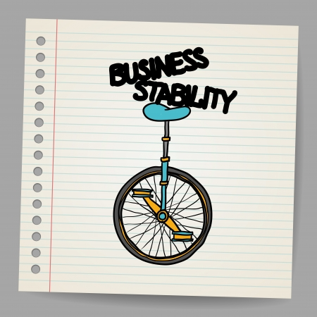 stability: Business stability concept illustration Illustration